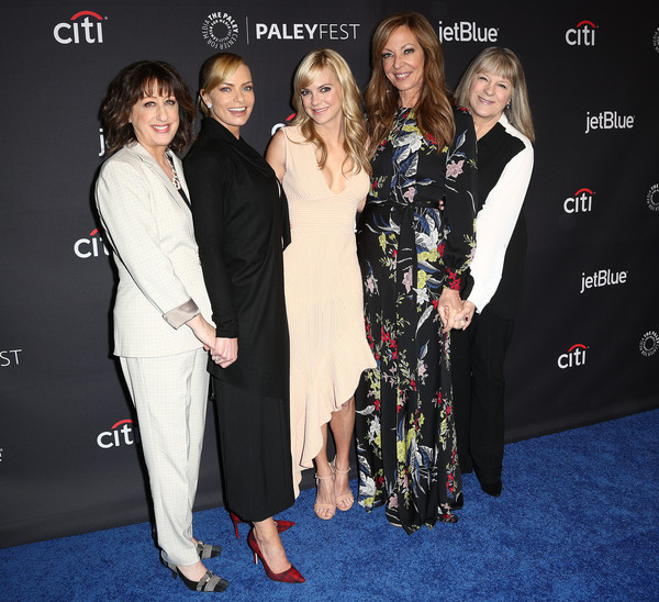 The Paley Center For Media's 35th Annual PaleyFest Los Angeles - 'Mom' - Arrivals [television show,red carpet,carpet,premiere,event,fashion,flooring,dress,smile,mom,arrivals,actresses,anna faris,allison janney,beth hall,los angeles,paley center for media,paleyfest]