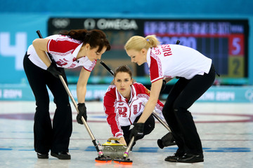 Anna Sidorova Curling - Winter Olympics Day 8