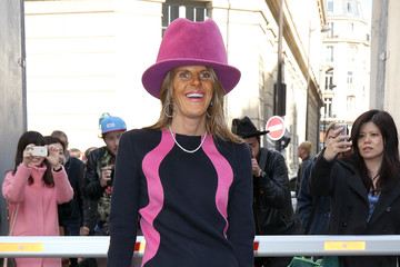 Anna dello Russo Arrivals at the Moncler Gamme Rouge Show