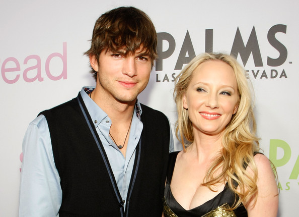 Anne Heche and Ashton Kutcher - Las Vegas Screening Of Anchor Bay Films'