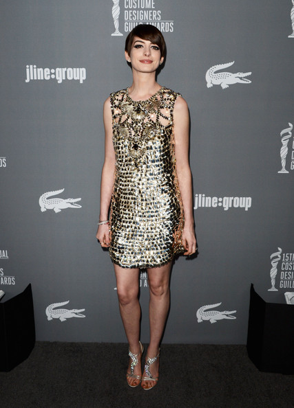 Anne Hathaway - 15th Annual Costume Designers Guild Awards With Presenting Sponsor Lacoste - Arrivals