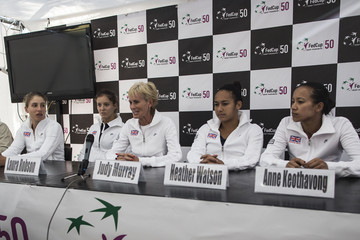 Anne Keothavong Heather Watson Fed Cup Europe/Africa Group One - Day One