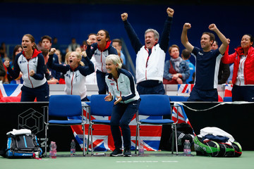 Anne Keothavong Heather Watson Fed Cup Europe/Africa Group One: Day 3