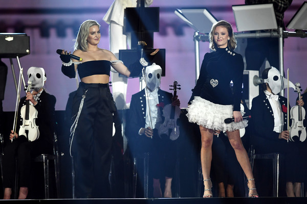 MTV EMAs 2017 - Show [performance,fashion,event,dress,fashion design,stage,performing arts,model,music,singer,zara larsson,anne marie,stage,england,london,sse arena,wembley,mtv,clean bandit,emas 2017 - show]