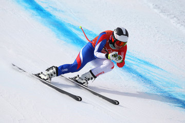 Anne-Sophie Barthet Alpine Skiing Training - Winter Olympics Day 10