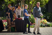 (L-R) Mark Zuckerberg, chief executive officer of Facebook, and NFL Commissioner Roger Goodell attend the annual Allen & Company Sun Valley Conference, July 12, 2018 in Sun Valley, Idaho. Every July, some of the world's most wealthy and powerful businesspeople from the media, finance, technology and political spheres converge at the Sun Valley Resort for the exclusive week-long conference.
