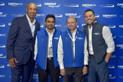 John Starks (L) and Nick Swisher (R) attend the Annual Charity Day Hosted By Cantor Fitzgerald, BGC and GFI on September 11, 2019 in New York City.
