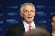 Tony Blair attends the Annual Charity Day hosted by Cantor Fitzgerald, BGC and GFI at Cantor Fitzgerald on September 11, 2018 in New York City.