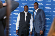 Larry Johnson and David Robinson attend the Annual Charity Day hosted by Cantor Fitzgerald, BGC and GFI at Cantor Fitzgerald on September 11, 2018 in New York City.