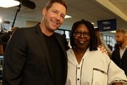 Actors Ed Burns and Whoopi Goldberg attend the annual Charity Day hosted by Cantor Fitzgerald and BGC at Cantor Fitzgerald on September 11, 2015 in New York City.
