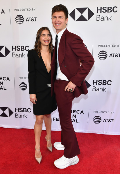 'Jonathan' - 2018 Tribeca Film Festival [jonathan,ansel elgort,violetta komyshan,red carpet,carpet,red,suit,premiere,flooring,formal wear,event,footwear,tuxedo,tribeca film festival,screening,new york city,sva theatre]
