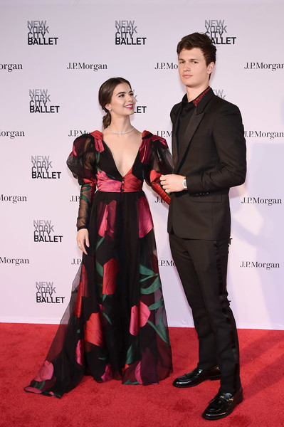 New York City Ballet 2018 Spring Gala [red carpet,carpet,clothing,fashion,premiere,formal wear,flooring,dress,event,suit,new york city ballet 2018 spring gala,new york city,lincoln center,violetta komyshan,ansel elgort]