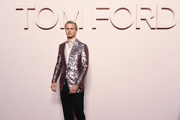 Ansel Elgort Tom Ford FW 2019 - Arrivals - New York Fashion Week: The Shows