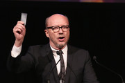 Director Paul Haggis speaks onstage at The Anthology Film Archives Benefit and Auction on March 2, 2017 in New York City.