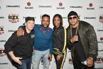 Anthony Anderson LL COOL J Celebrates the Launch of His Exclusive SiriusXM Channel 'Rock The Bells Radio' At World On Wheels In Los Angeles
