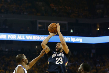 Anthony Davis Kevin Durant New Orleans Pelicans vs. Golden State Warriors - Game One