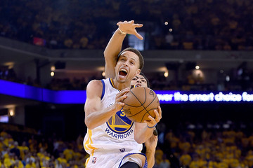 Anthony Davis Stephen Curry New Orleans Pelicans v Golden State Warriors - Game One
