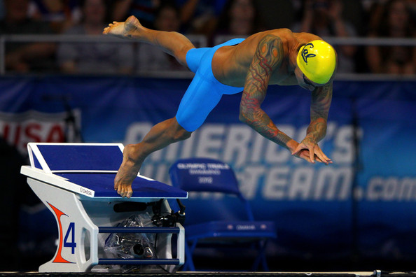 anthony ervin anthony ervin dives off of the starting block at the start of the championship