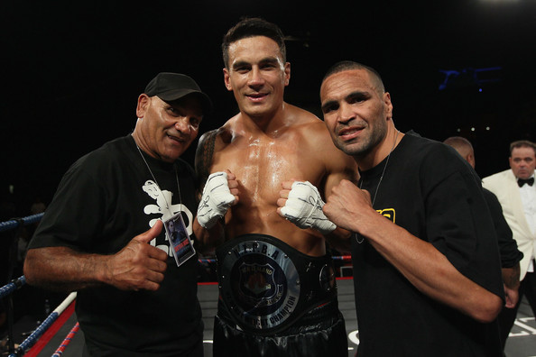 Sonny Bill Williams v Clarence Tillman III [muscle,event,boxing,championship,wrestler,contact sport,striking combat sports,mixed martial arts,competition event,referee,sonny bill williams,clarence tillman iii,trainers,anthony mindine,tony mundine,v,battle for the belt,claudelands event centre,l,match]
