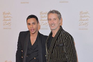 Antoine De Caunes British Fashion Awards 2015 - Winners Room