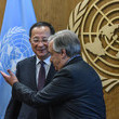 Antonio Guterres South Korean Minister Of Foreign Affairs Meets With United Nations Secretary General Antonio Guterres