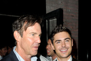"Actors Dennis Quaid (L) and Zac Efron attends ""At Any Price"" premiere post party during the 2012 Toronto International Film Festival on September 9, 2012 in Toronto, Canada."