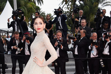 Araya Hargate 'La Tete Haute' Red Carpet - The 68th Annual Cannes Film Festival