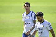 Angel Di Maria during a training session at  Cidade do Galo on June 18, 2019 in Vespasiano, Brazil.