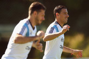 Maxi Rodriguez of Argentina during a training session at Cidade do Galo on June 27, 2014 in Vespasiano, Brazil.