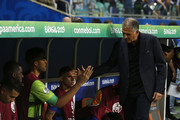 Carlos Queiroz coach of Colombia during the Copa America Brazil 2019 group B match between Argentina and Colombia at Arena Fonte Nova on June 18, 2019 in Salvador, Brazil.