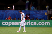 Lionel Messi of Argentina reacts during the Copa America Brazil 2019 group B match between Argentina and Colombia at Arena Fonte Nova on June 15, 2019 in Salvador, Brazil.