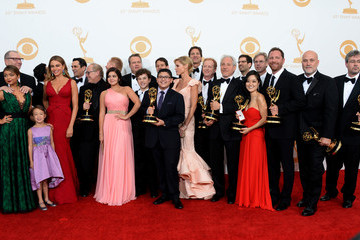 Ariel Winter Ty Burrell Press Room at the Emmys