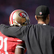 Frank Gore and Jim Harbaugh Photos