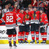 Tommy Wingels Photos - (L-R) Jordan Oesterle #82, Lance Bouma #17, Tommy Wingels #57, John Hayden #40 and Duncan Keith #2 of the Chicago Blackhawks celebrate Wingels' third period goal against the Arizona Coyotes at the United Center on December 10, 2017 in Chicago, Illinois. The Blackhawks defeated the Coyotes 3-1. - Arizona Coyotes v Chicago Blackhawks