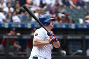 Jay Bruce #19 of the New York Mets in action against the Arizona Diamondbacks during their game at Citi Field on May 20, 2018 in New York City.