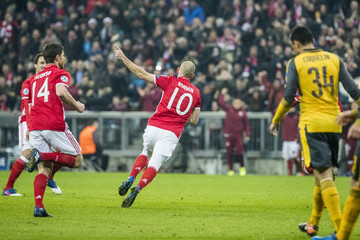 Arjen Robben FC Bayern Muenchen v Arsenal FC - UEFA Champions League Round of 16: First Leg