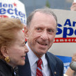 Joan Specter Arlen Specter Campaigns At Citizens Bank Park Before Phillies Game