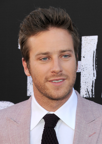 Armie Hammer Actor Armie Hammer arrives at the premiere of Walt Disney    Armie Hammer