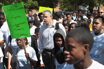 Arne Duncan Chicago Charter School Students Hold Annual March Against Violence