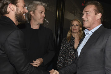Arnold Schwarzenegger Premiere of Warner Bros. Pictures' 'The 15:17 to Paris' - Red Carpet