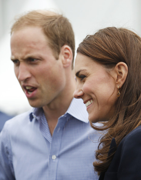 Prince William, Duke of Cambridge and Catherine, Duchess of Cambridge during a visit to the Commonwealth Games Village on July 29, 2014 in Glasgow, Scotland.