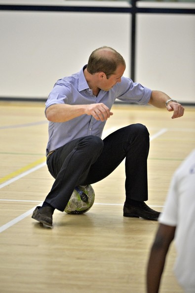 Prince William, Duke of Cambridge is seen during a visit to the Coach Core project at Gorbals Leisure Centre on July 29, 2014 in Glasgow, Scotland.