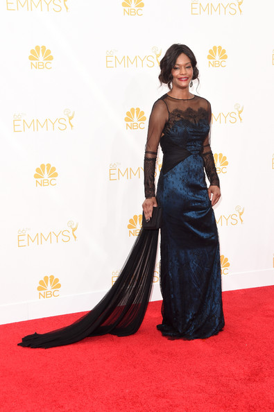 Actress Sufe Bradshaw attends the 66th Annual Primetime Emmy Awards held at Nokia Theatre L.A. Live on August 25, 2014 in Los Angeles, California.