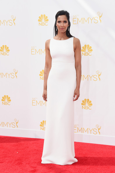 TV personality Padma Lakshmi attends the 66th Annual Primetime Emmy Awards held at Nokia Theatre L.A. Live on August 25, 2014 in Los Angeles, California.