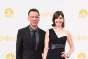 Actors Fred Armisen (L) and Carrie Brownstein attend the 66th Annual Primetime Emmy Awards held at Nokia Theatre L.A. Live on August 25, 2014 in Los Angeles, California.