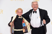 Actor Mason Vale Cotton (L) and Robert Morse attend the 66th Annual Primetime Emmy Awards held at Nokia Theatre L.A. Live on August 25, 2014 in Los Angeles, California.