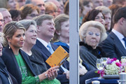 Queen Maxima of The Netherlands (L), King Willem-Alexander of The Netherlands, (3rdL) and Princess Beatrix of The Netherlands (R) attend the Freedom Concert on May 5, 2014 in Amsterdam, Netherlands.