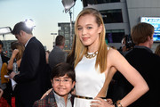 Actor Blake Garrett Rosenthal (L) and actress Sadie Calvano attend The 40th Annual People's Choice Awards at Nokia Theatre L.A. Live on January 8, 2014 in Los Angeles, California.