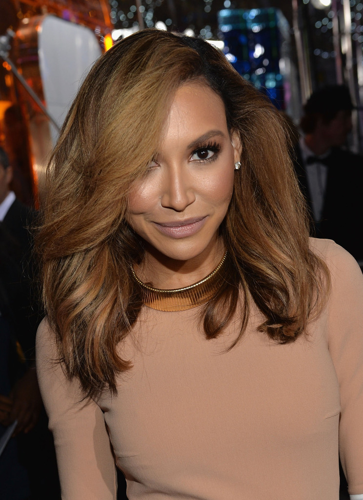naya rivera blonde hair nude makeup