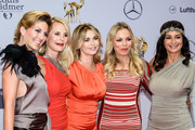 Ekaterina Leonova (from L), Sonja Kiefer, Tina Ruland, Regina Halmich and Gitta Sachs attend the Tribute To Bambi 2014 at Station on September 25, 2014 in Berlin, Germany.